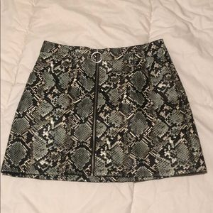 Snakeskin pleather skirt